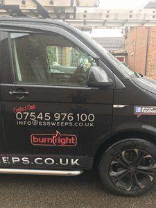 BurnRight Van sticker