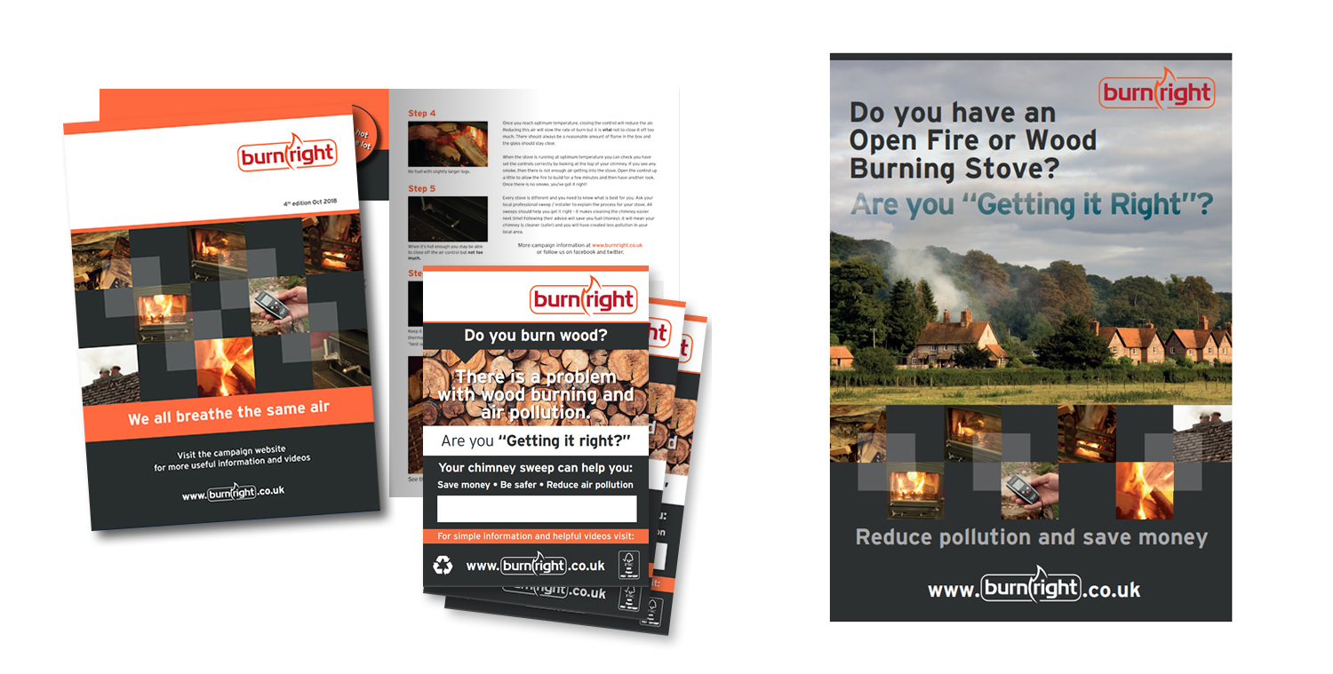 Click & collect Burnright brochures at the Guild show