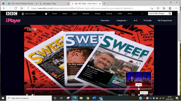 Sweep Stuff magazine featured on popular TV panel show.